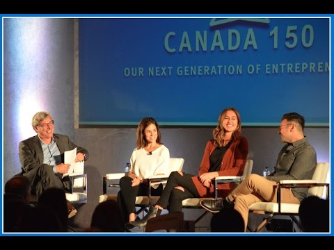 Dave McKay in discussion with young digital entrepreneurs - Canadian Club Toronto