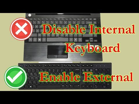 How To Disable Laptop  Keyboard When External Plugged In
