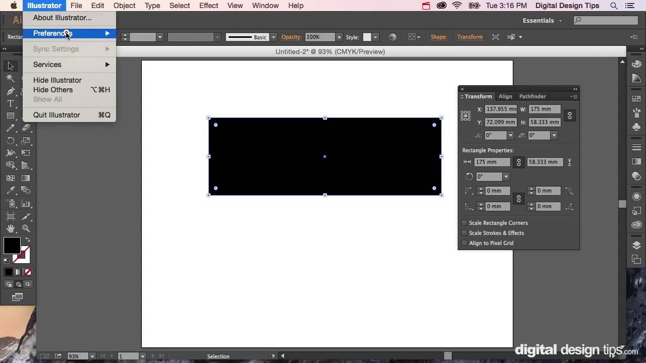 How to Change Object Size in Adobe Illustrator (Transform)