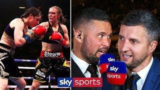 Bellew & Froch disagree after 'controversial' Katie Taylor victory over Delfine Persoon