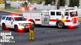GTA 5 Firefighter Mod 59 | Blaine County Fire Department Responding To Fires & EMS Calls | Busy Day