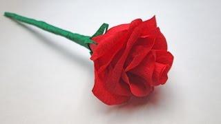 Розы из гофрированной бумаги(Композиция