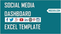 Social Media Dashboard - Free Excel Template to report Social Media metrics
