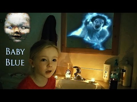 BABY BLUE CHALLENGE GONE WRONG - Real Scary Demon Attacks Through Mirror!