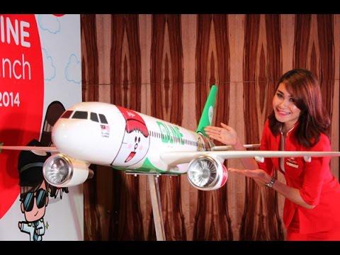 แอร์เอเชีย เปิดตัวเครื่องบินเพ้นท์ลาย LINE สติกเกอร์-  AirAsia taking LINE Characters to the skies