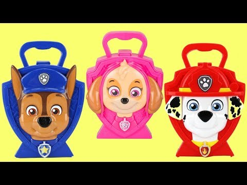NEW! Paw Patrol Music Carry Cases & Toy Surprises with Chase, Skye & Marshall