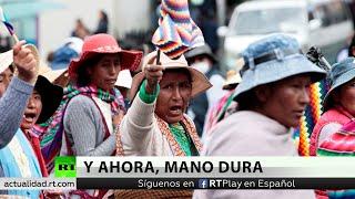Nuevas movilizaciones en La Paz para exigir la renuncia de la autoproclamada presidenta Jeanine Áñez