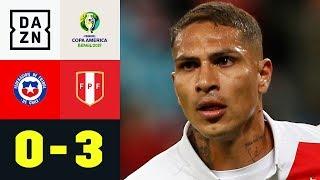Paolo Guerrero & Co. entzaubern den Titelverteidiger: Chile - Peru 0:3 | Copa America | DAZN