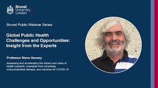 Assessing and Accelerating the Impact and Value of Health Research: Prof Steve Hanney