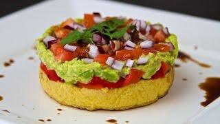 Mediterranean Polenta Stack Recipe - Vegan & Gluten Free!