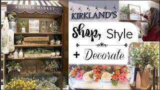 DECORATE WITH ME & SHOP WITH ME AT KIRKLANDS | Spring Flower Market | Momma from scratch