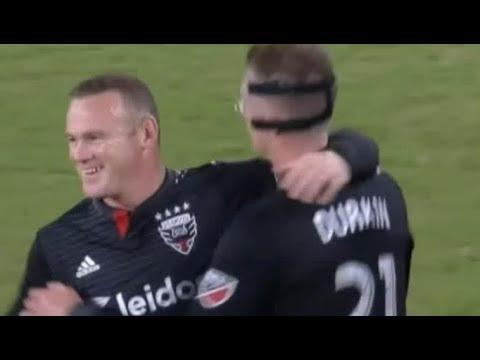 Wayne Rooney 2 Incredible Free Kick Goal 2018
