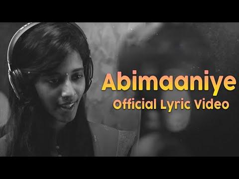 Abimaaniye Song Lyrics From En Aaloda Seruppa Kaanom