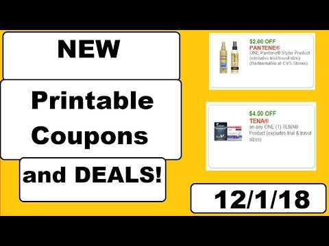 HIGH VALUE New Printable Coupons and Deals!- 12/1/18- ACT FAST