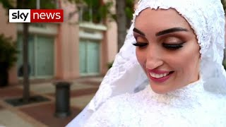Beirut blast captured during bride's photoshoot