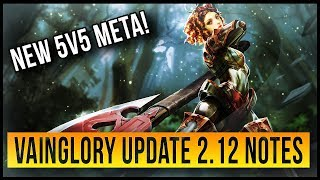 UPDATE 2.12 NOTES OVERVIEW | DISCUSSION ON VAINGLORY META CHANGES