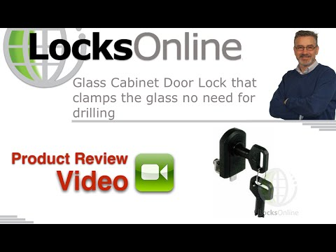Glass Cabinet Door Lock That Clamps The Glass No Need For Drilling