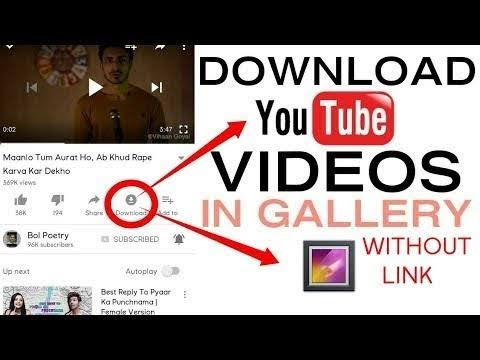 How To Download Video In Youutube Directly Gallery Hindi (480p)
