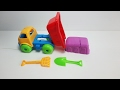 Trucks for children with kinetic sand | learn transport | Videos for kids EP3