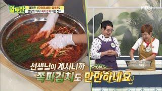 """""""완벽한 하모니의 맛"""" 진정한 밥도둑 <쪽파김치> 만들…"""