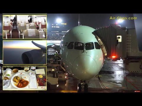 Air India Boeing 787-8 Dreamliner Business Class to New Delhi! [AirClips full flight series]