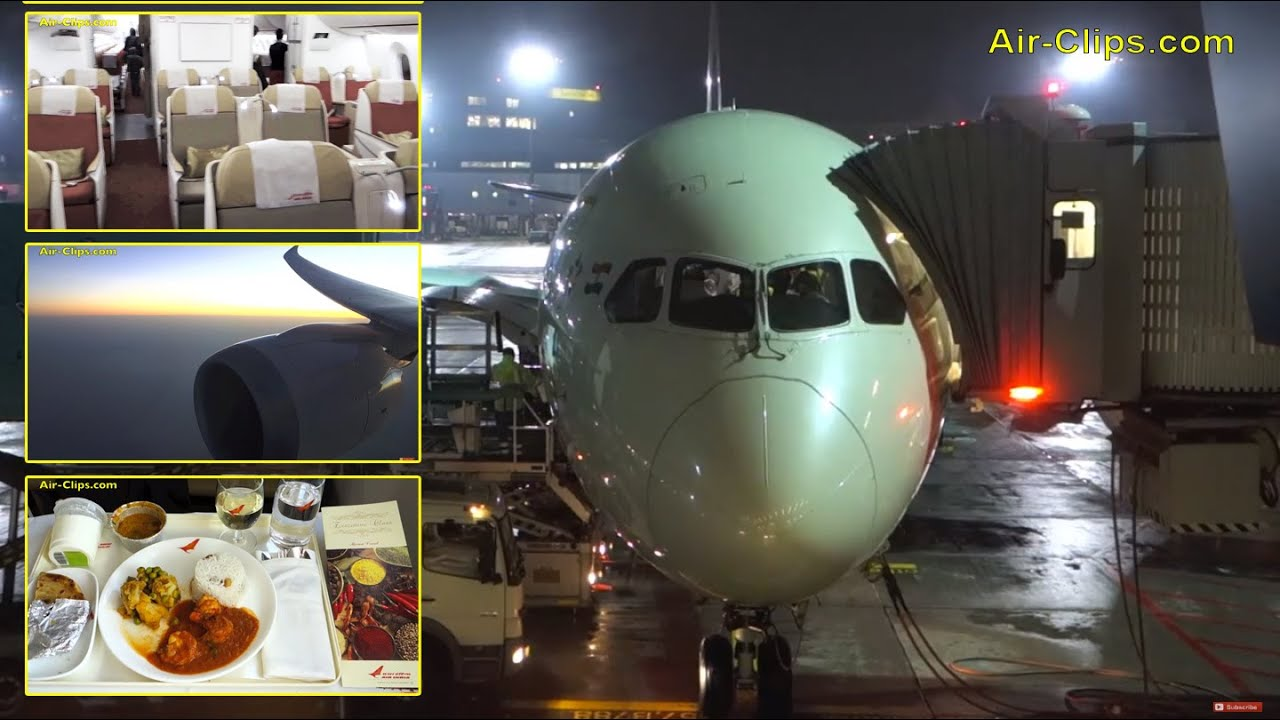 Air India Boeing 787-8 Dreamliner Business Class to New Delhi ...
