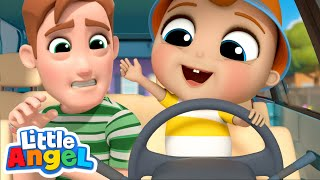 We Fix The Car Together with Daddy | Little Angel Kids Songs and Nursery Rhymes