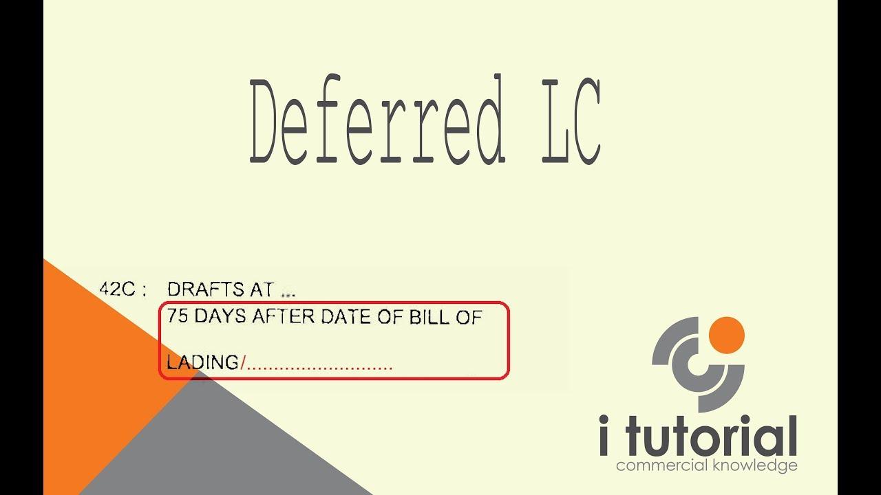 deferred letter  credit  bangla letter  credit documentary letter  credit youtube