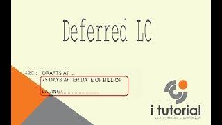 Deferred letter of credit in Bangla. Letter of Credit. Documentary Letter of Credit
