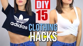 15 Clothing Hacks every girl should know !! DIY Clothes Life Hacks!