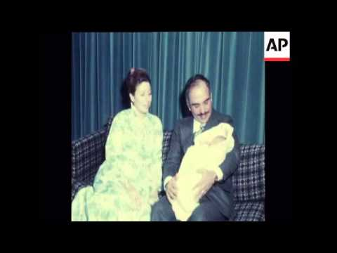 KING HUSSEIN AND QUEEN ALIA WITH NEW SON ALI