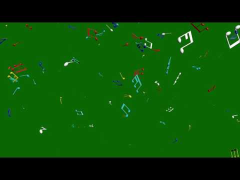 Music Notes Looping Green Screen Background