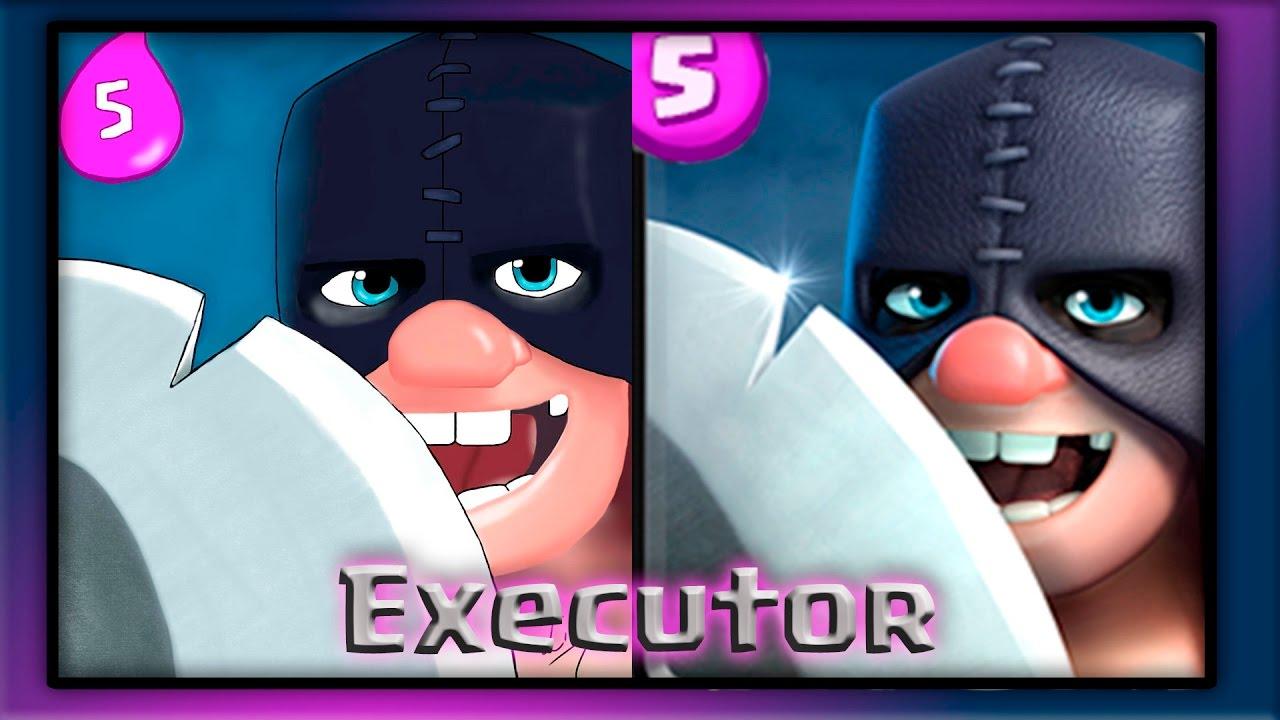 Finalizando E Colorindo A Nova Carta Executor Clash Royale