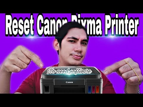 How to reset Canon Pixma Printer without using software (Easy step Tagalog/English Tutorial) #canon