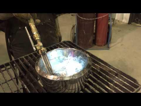 Oxyacetylene Torch Burning Underwater