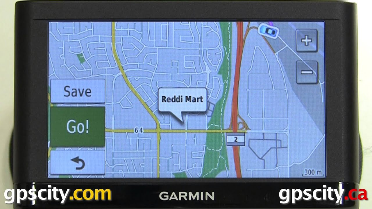 create a route with more than one point in the garmin nuvi 54lm with