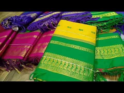 Korvai Silk Sarees  Kanchipuram Jacquard silk  Kalyani Soft silk  From RS.800 Courier Available