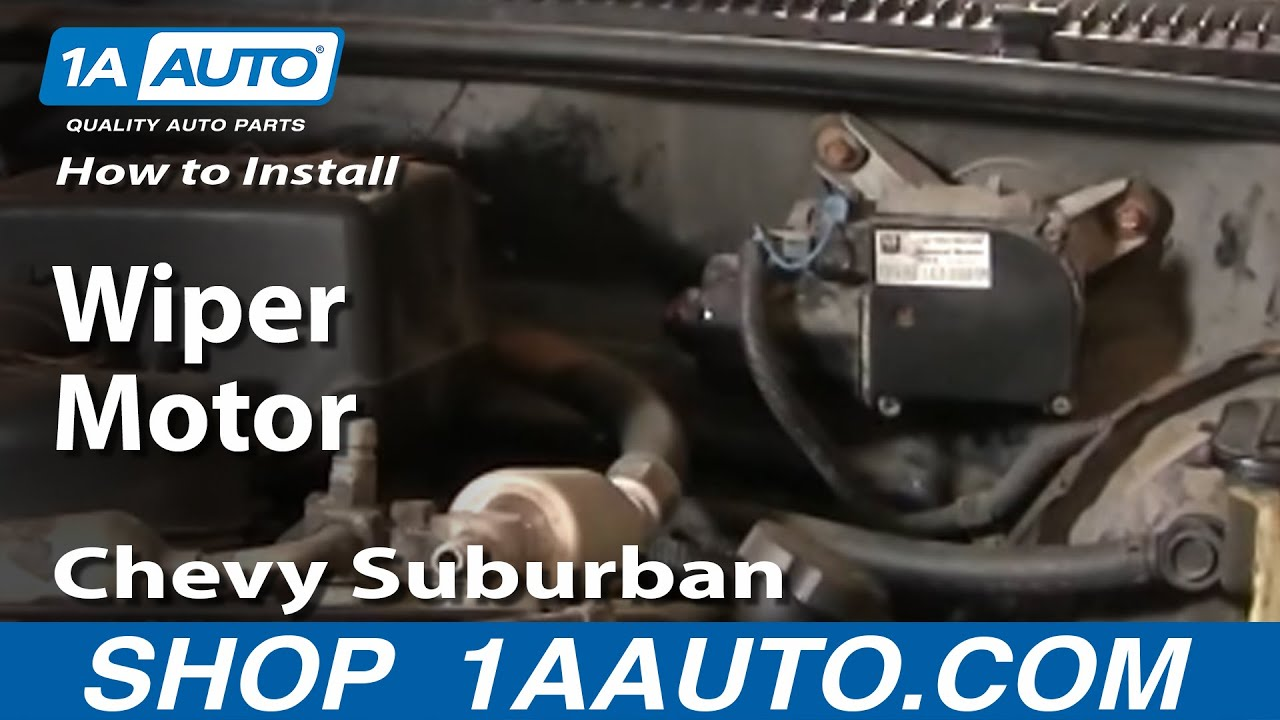 how to replace wiper motor 88 99 chevy suburban [ 1280 x 720 Pixel ]