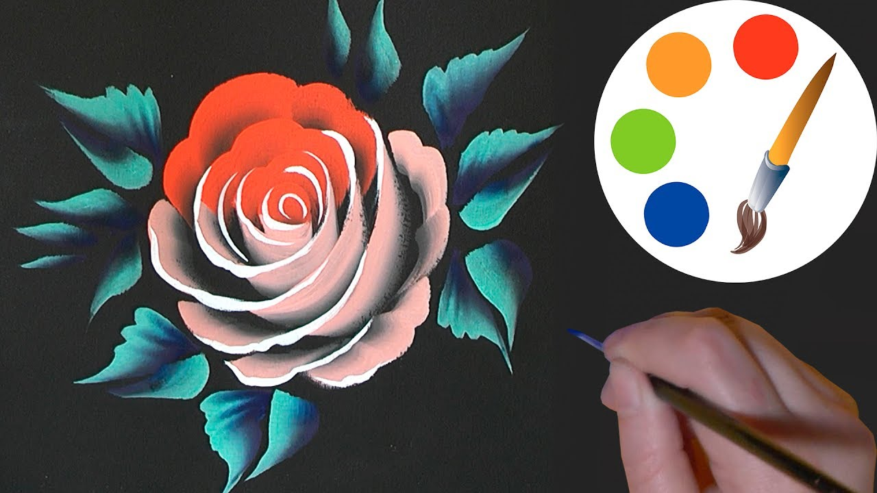 How to paint a beautiful rose one stroke irishkalia youtube how to paint a beautiful rose one stroke irishkalia dhlflorist Image collections