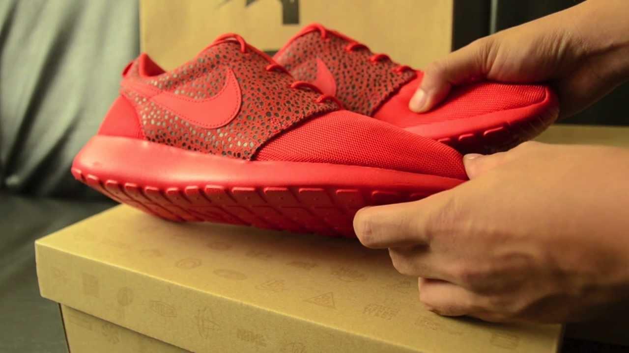 ff1eb84bb1c7e Nike Rosherun Premium Safari Red + On Feet - YouTube
