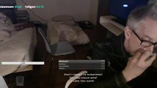 Andy Dick does coke live on twitch and gets BANNED !