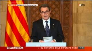Declaració del President Mas 08-04-2014