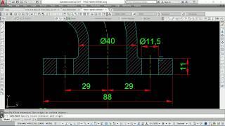 Luyện kỹ năng vẽ AutoCAD 2D  Cơ khí - Bài Tập 47