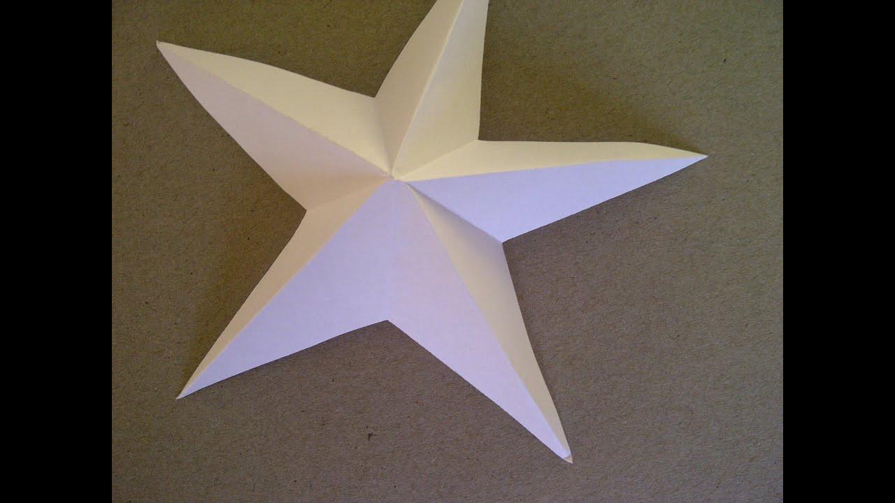 3D-Sterne Basteln. 5-zackiger Stern Aus Papier Falten Sehr