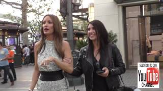 Catt Sadler talks about Khloe Kardashian new clothing line at the Grove in Hollywood