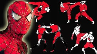 How many fighting styles does Spider-Man know in the Spider-Man Trilogy?