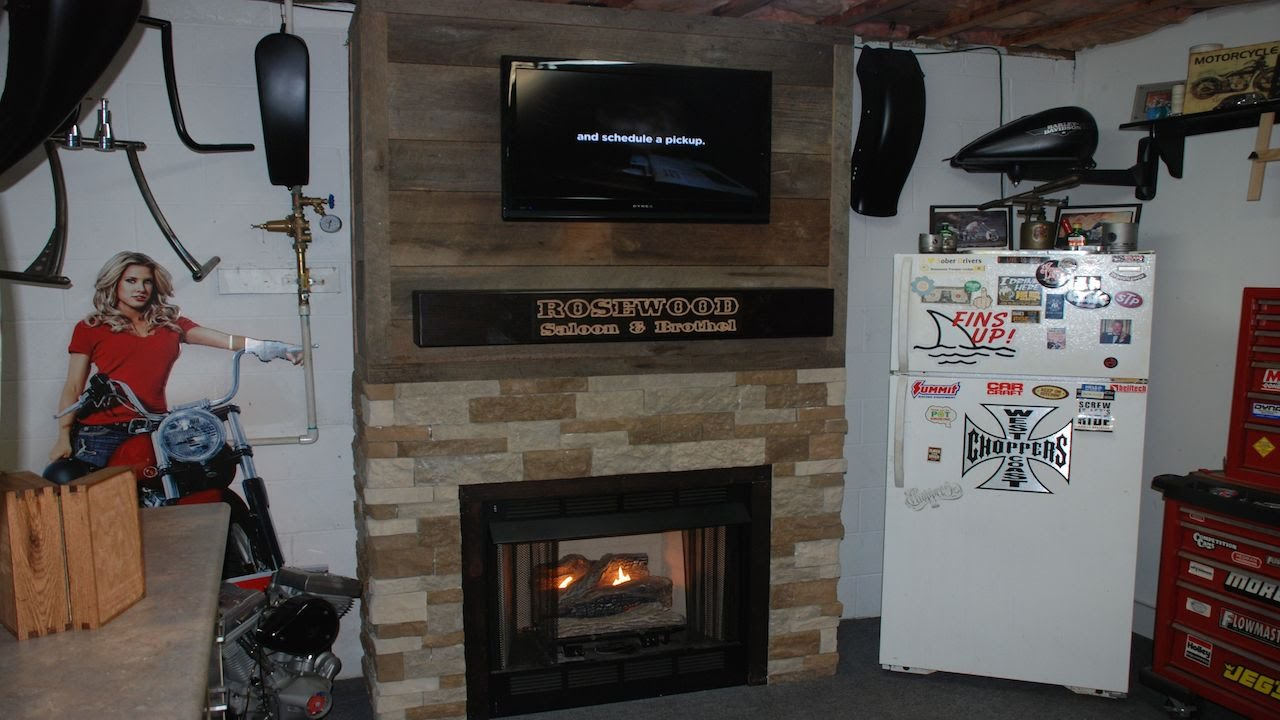 In this video I build a fireplace surround for a gas log insert using old barn wood for my brother Da Da. He is planning a renovation of his shop/man cave an...