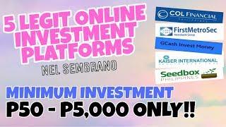 5 Legit Online Investment Platforms in 2020 (Minimum Investment of P50 - P5,000 ONLY!)