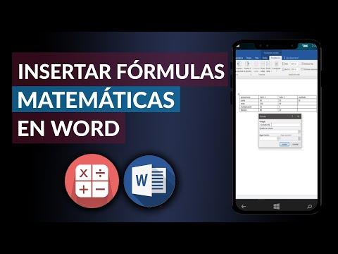 Cómo Sumar, Restar, Multiplicar, Dividir en Word - Insertar Fórmulas en Word