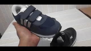 sepatu sekolah anak laki dan perempuan TK SD  warna hitam sepatu running nike adidas NB